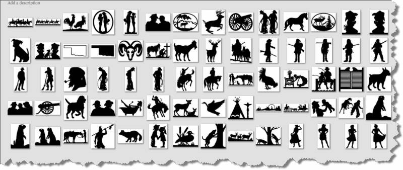 Simplified Lifestyle Western Country Animals And People