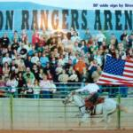 4' High X 30' Long Sign for Rodeo Arena in Cedar City, Utah.